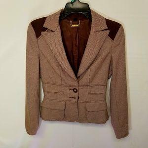 BeBe brown tan elegant blazer size 4